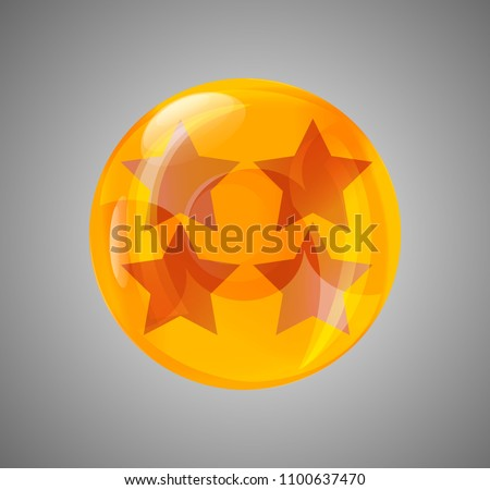 Stock Photo ball star. crystal ball