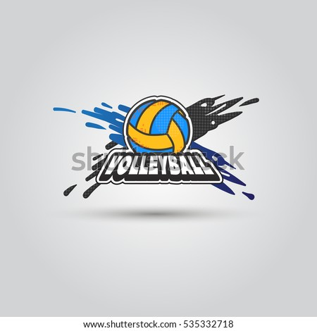 ball symbol volleyball logo