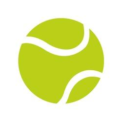 ball tennis white sport design icon vector illustration eps 10