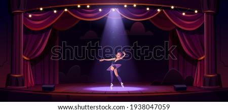 ballerina dance on stage  girl