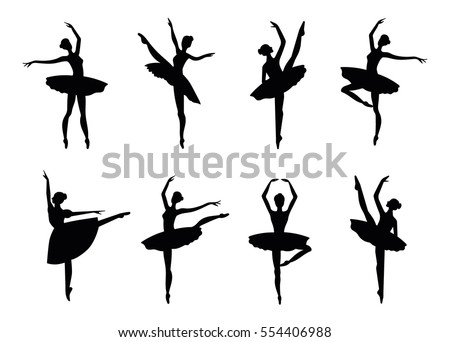 ballerina silhouette isolated