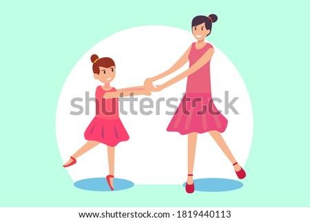 ballerina vector concept