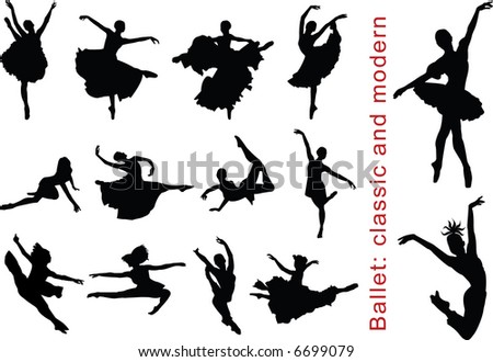 Ballet: Classic and Modern. Vector Illustration
