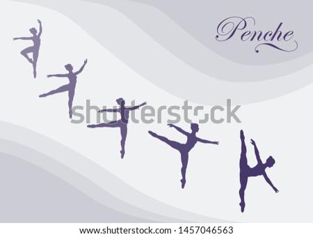 ballet figures arabesque and