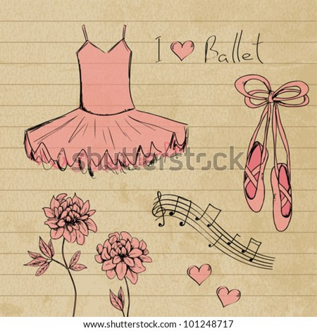 ballet set doodles