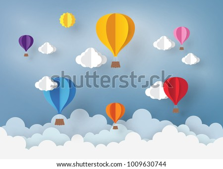 ballon and cloud in the  blue