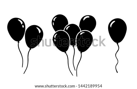 Ballon icon vector, illustration symbol ballon in black and white background
