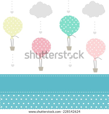 balloon and clouds baby pattern