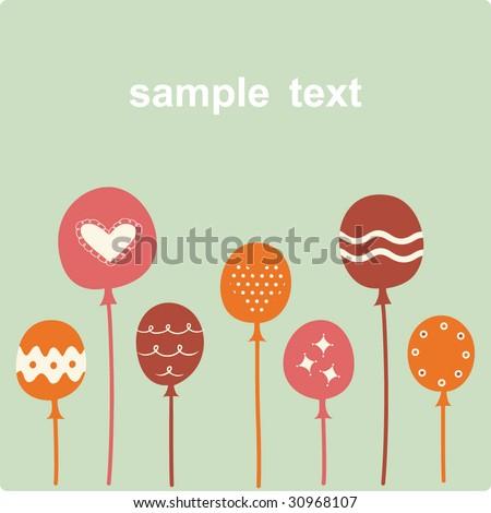 Balloon Birthday Card Design Stock Vector 30968107 : Sh
