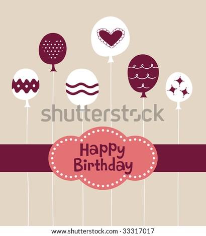 Balloon Birthday Card Design Stock Vector 33317017 : Sh