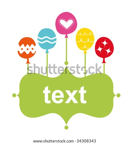Balloon Birthday Card Design Stock Vector 34308343 : Sh