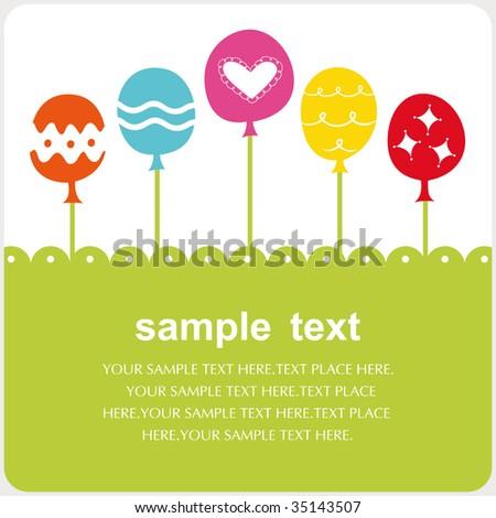 Balloon Birthday Card Design Stock Vector 35143507 : Sh