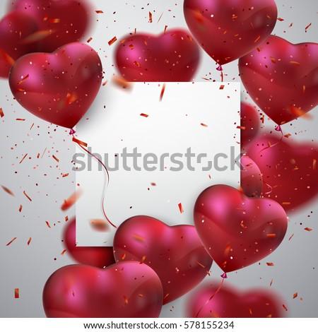 balloon hearts vector holiday