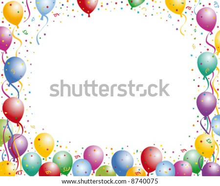 Balloon party frame. Put your text inside frame