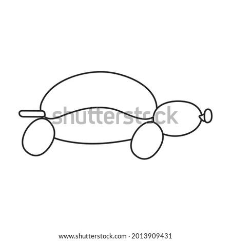 balloon turtle vector icon