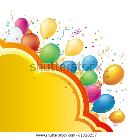 balloon,vector celebration background