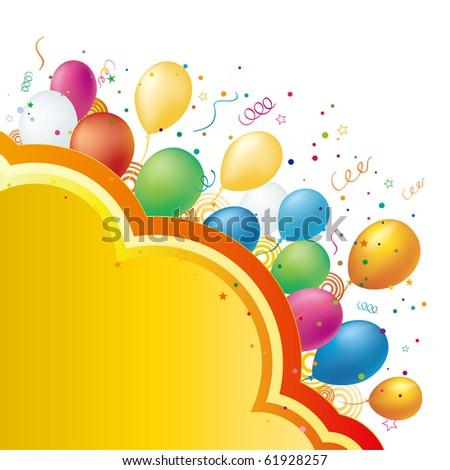 balloon,vector celebration background - stock vector