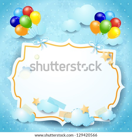 balloons and custom label