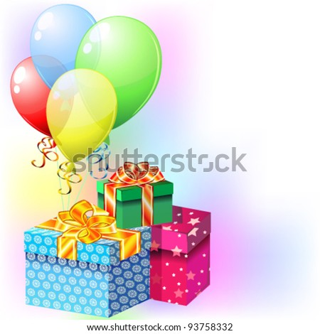 Balloons and gifts