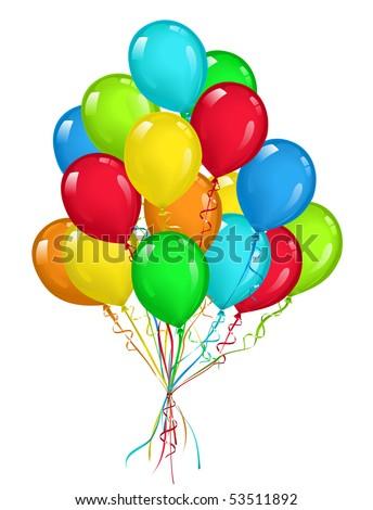 Balloons Bouquet Stock Vector 53511892 : Shutterstock