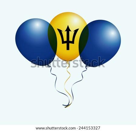 balloons in vector as barbados