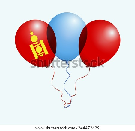 balloons in vector as mongolia