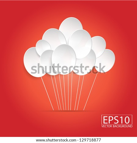 Balloons on red Background-01