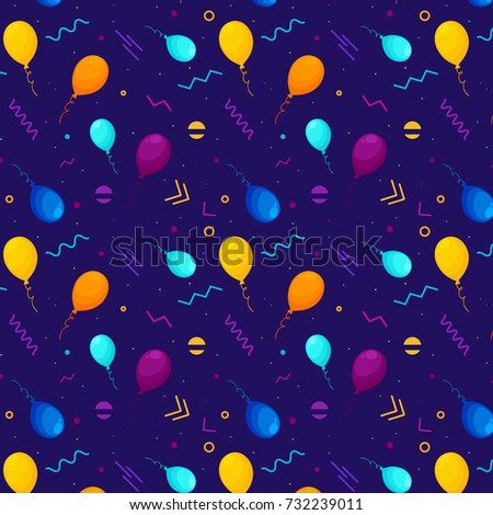 balloons pattern and geometric