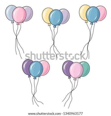 balloons set vector balloon