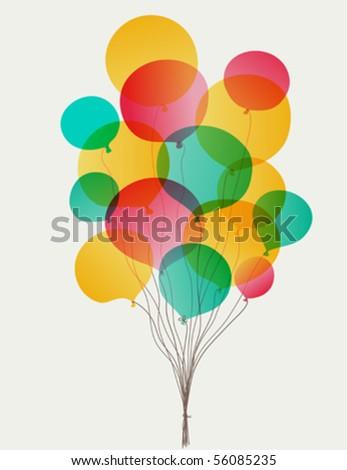 Balloons transparent eps10