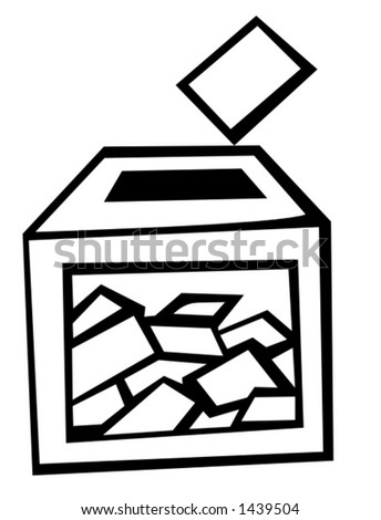 ballot box at election day