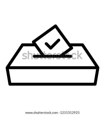 Ballot box line icon