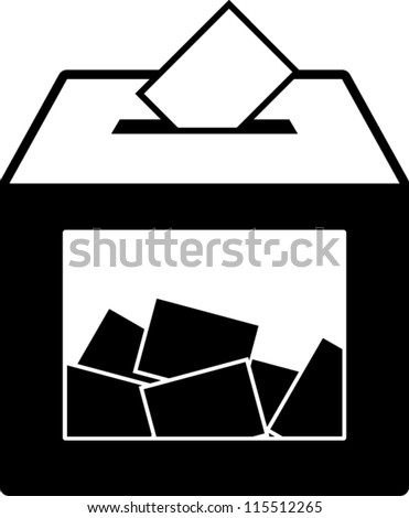 ballot voting box symbol
