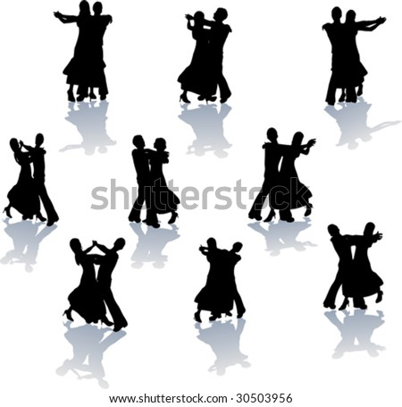 download break dance silhouettes stock vector sylwia tułajew