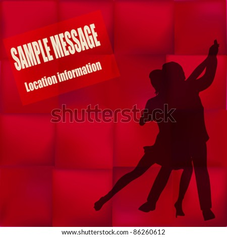 Ballroom Dance vector flyer, for an event or Dance School