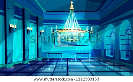ballroom in night vector