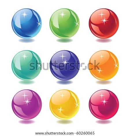 balls icons set