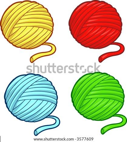 stock vector : Balls of yarn Vector Illustration