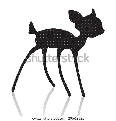 bambi silhouette vector illustration - stock vector