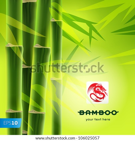 Bamboo background with copy space, vector Eps10 image.