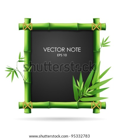 Bamboo blackboard, vector illustration