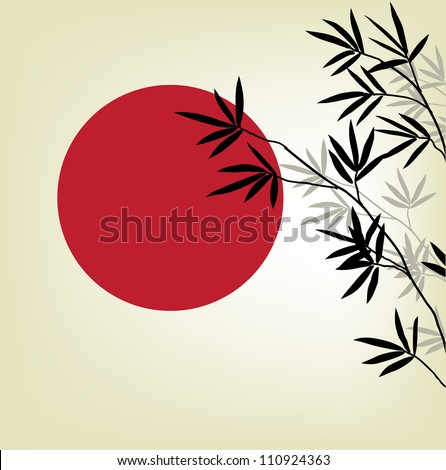 bamboo branches on a background