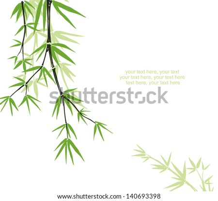 bamboo floral background with