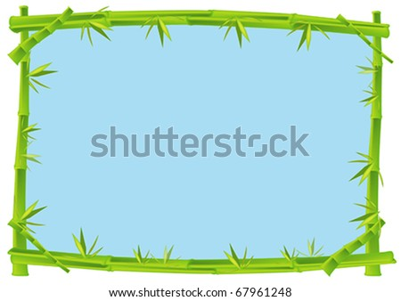 Bamboo Frame Concept Illustration in Vector