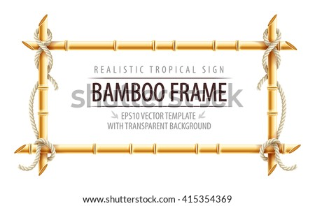 bamboo frame template for