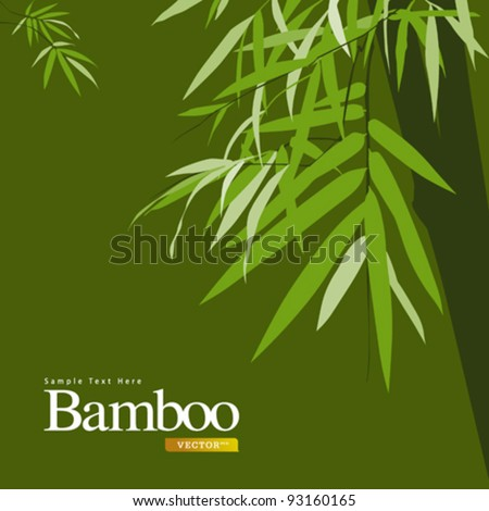 Bamboo green, greeting card vector illustration
