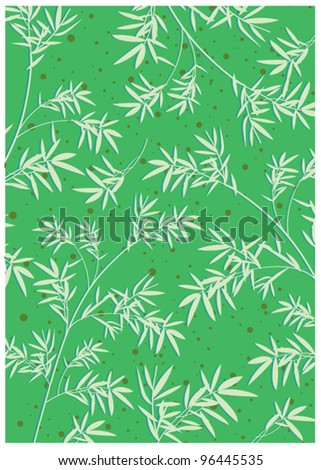 Bamboo leaves - stock vector