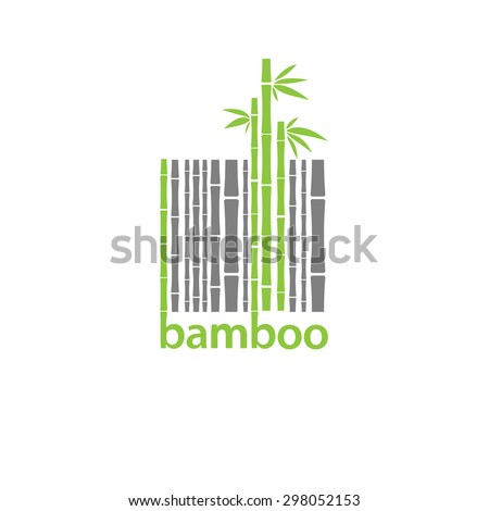 bamboo logo symbol  stylized as