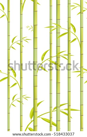 bamboo pattern vector green