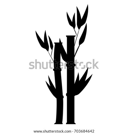 bamboo plant nature icon